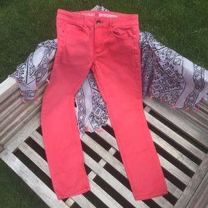 DKNY SOHO skinny pink jeans size 6